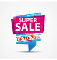 Super Sale Banner and Best Offer design vector image