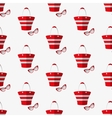 Beach bag and glasses pattern vector image