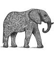 Elephant grey vector image
