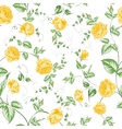 Seamless texture of orange roses for textiles vector image