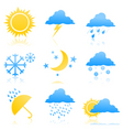 Weather icons2 vector image