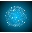 Abstract Sphere Space on Blue Background vector image vector image