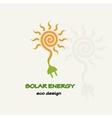 Solar Energy Symbolic sun spiral and plug vector image