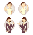 Gesturing business person set vector image vector image