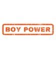 Boy Power Rubber Stamp vector image