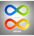 Colorful Paper Infinity Symbols vector image vector image