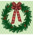 fir wreath vector image vector image