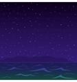 night sea vector image vector image