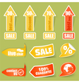 sticker and tag elements vector image vector image