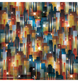 Cityscape at night background vector image vector image