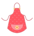 Cute red apron vector image