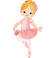 Cute little ballerina vector image
