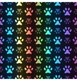 Animal seamless spectrum pattern of paw vector image