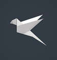 bird paper geometry business logo vector image