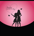 happy mothers day with mother and child vector image