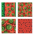 Set of seamless background with watermelons vector image