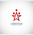 star team work company logo vector image