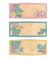 Retro flowers banner set vector image vector image