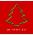 Green christmas tree vector image