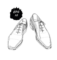 hand drawn graphic classic shoes vector image