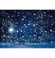 winter lantern night vector image