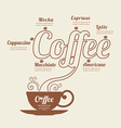 Coffee world Infographic line Template vector image vector image