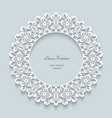 Round paper lace frame vector image vector image