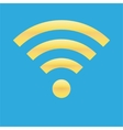 Wifi icon blue yellow color vector image