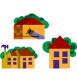 houses and homes vector image vector image