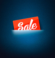 Sale label in poket card vector image vector image