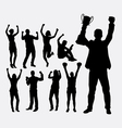 Winner people silhouettes vector image