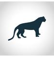 Tiger black silhouette vector image