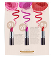 template for advertising makeup and lipstick vector image vector image