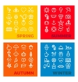 season icons - spring summer autumn winter vector image