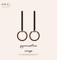 gymnastics rings vector image