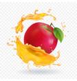 apple fresh juice realistic vector image