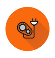 energy icon suitable icon on round background vector image