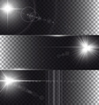 flare lights isolated on transparency background vector image