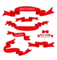 Red Web Ribbons Set vector image
