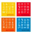 season icons - spring summer autumn winter vector image