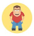 Smiling men avatar profile Cartoon character Flat vector image