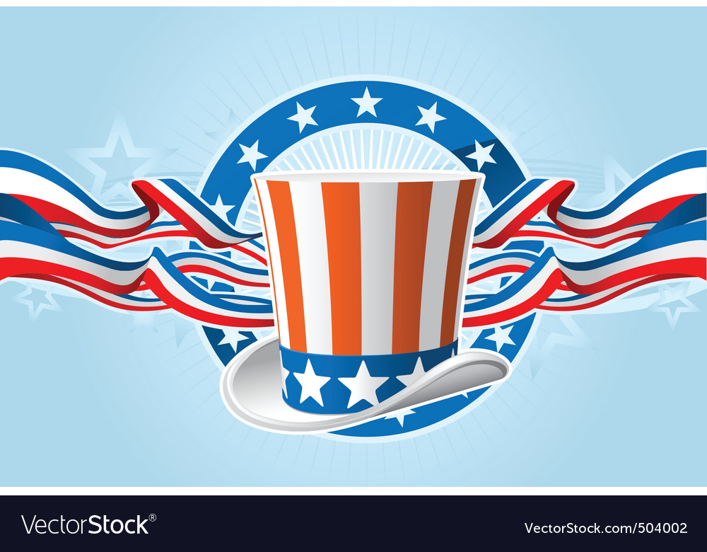 Fourth of july emblem vector