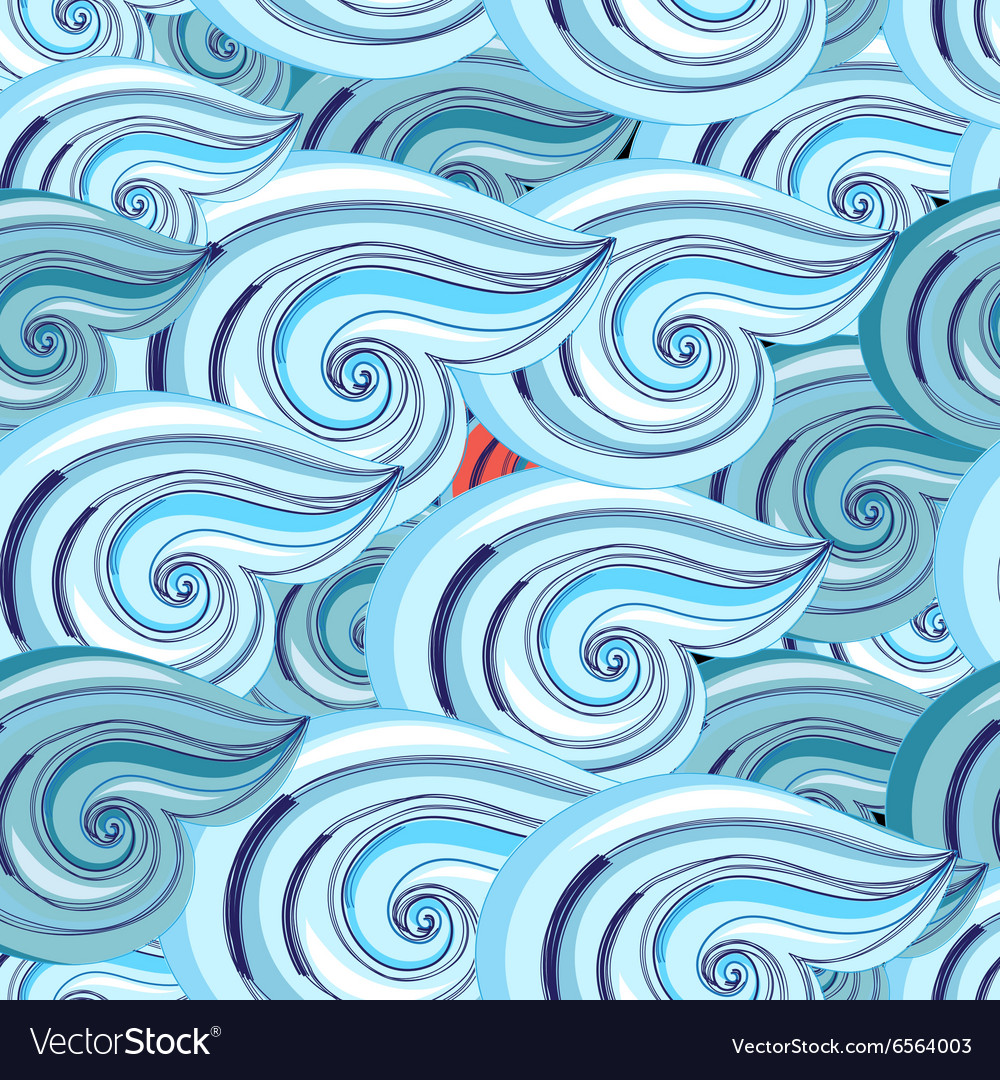 Graphic pattern of waves vector