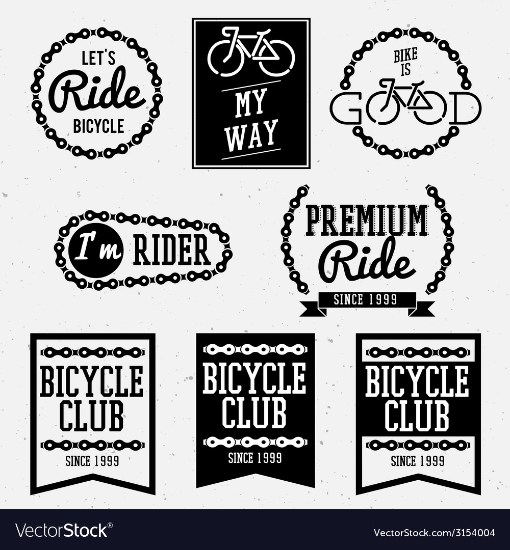 Bicycle club bw vector