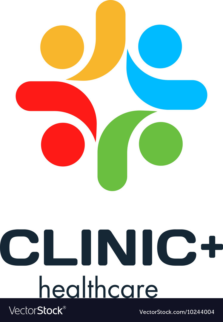 Isolated colorful cross logo medical vector