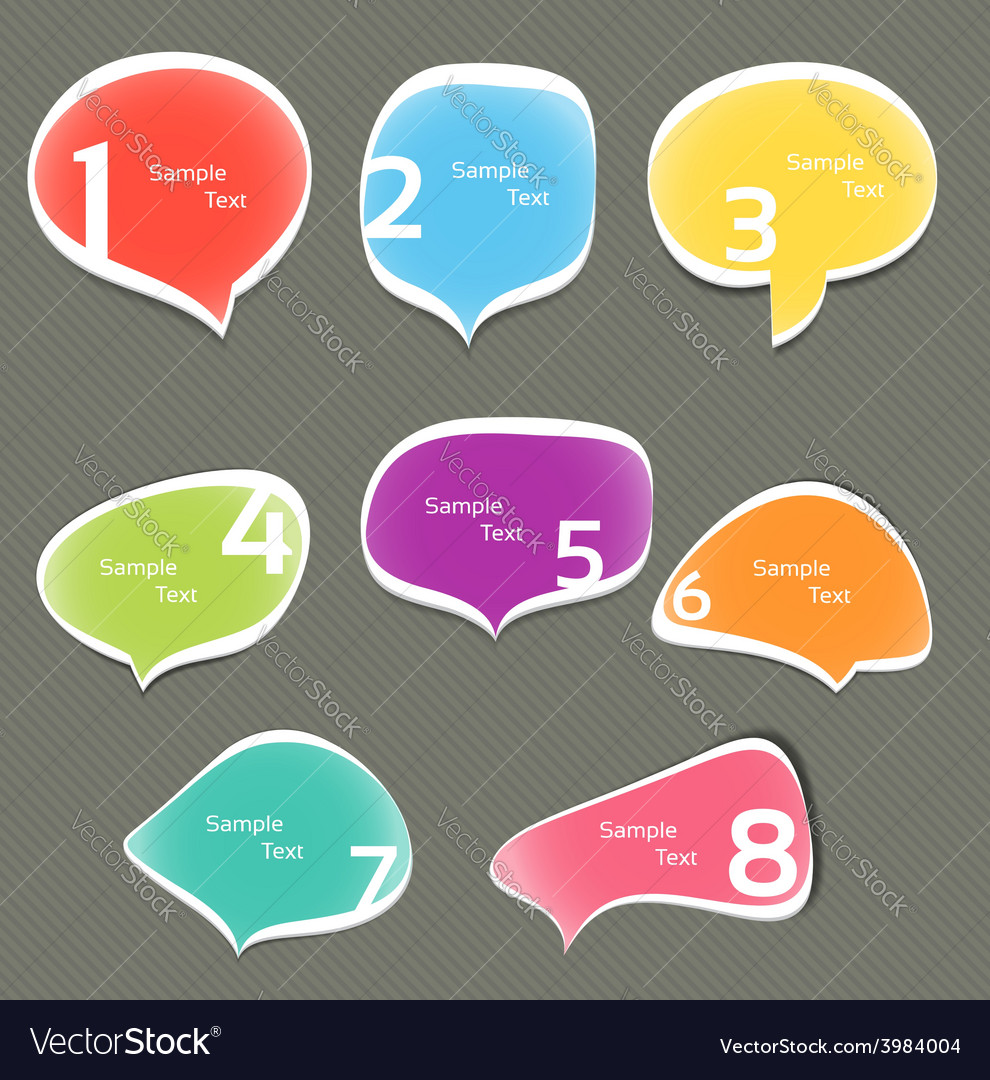 Set of colorful speech bubbles eps 10 vector