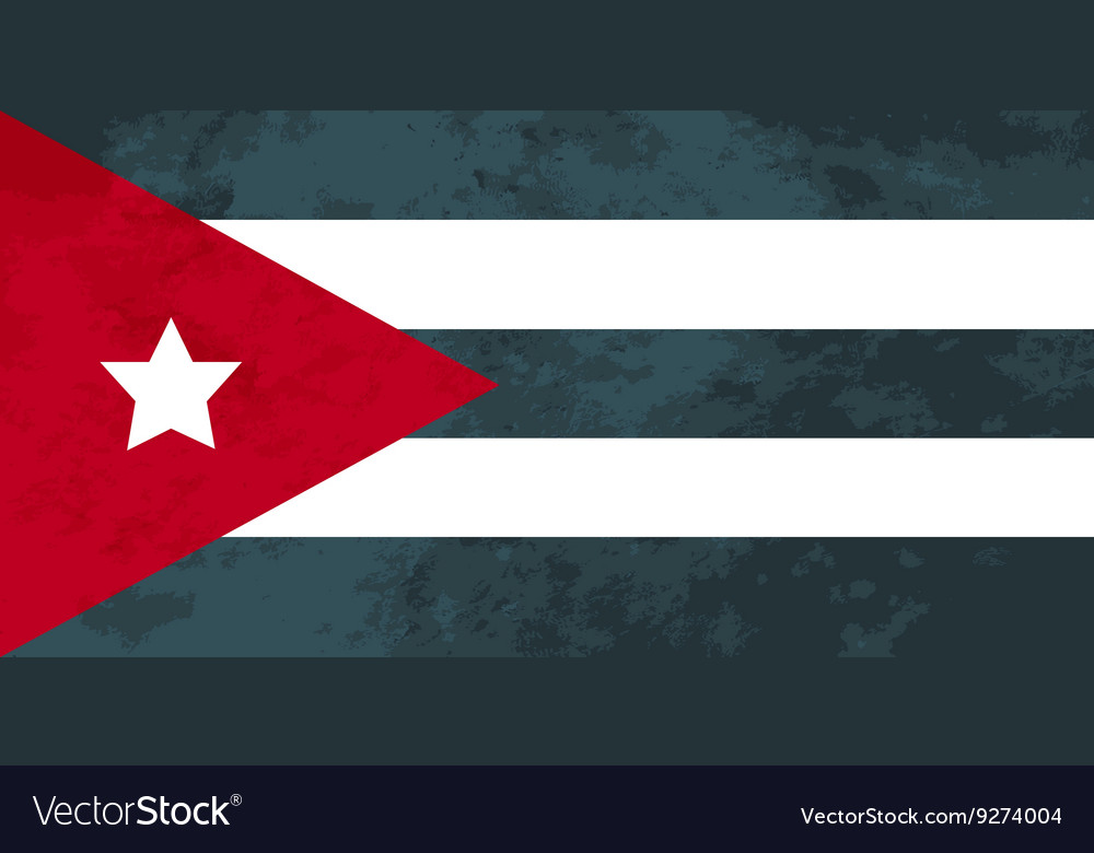 True proportions cuba flag with texture vector