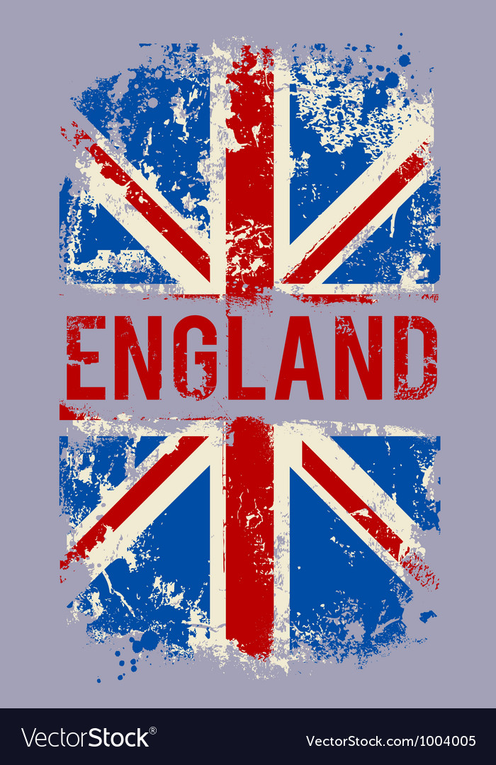 Grunge banner uk national flag vector