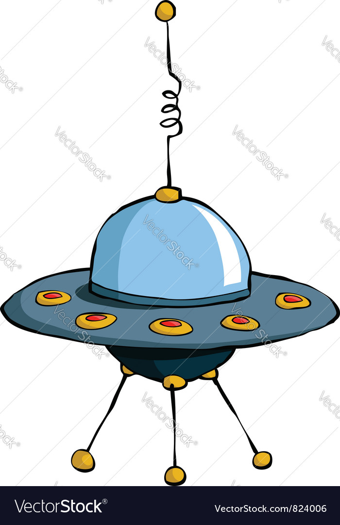 Flying saucer vector