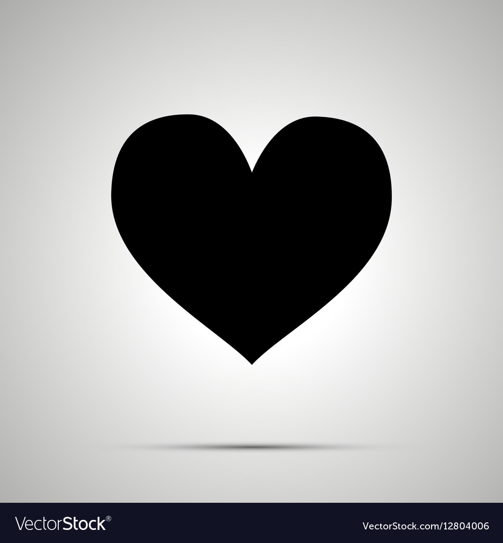 Heart simple black icon vector